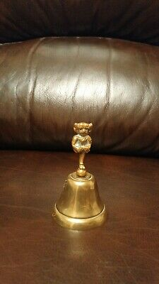 Vintage Indian brass bell with monkey god handle