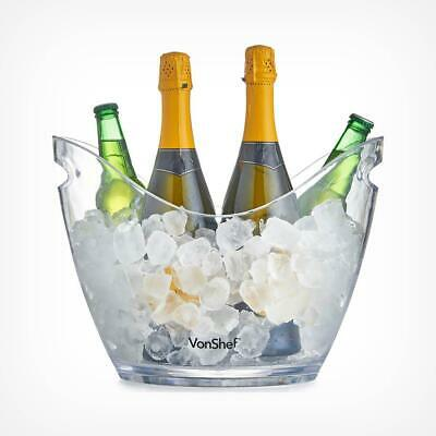 7.5L Ice Bucket Drinks Champagne Acrylic Clear Transparent Cooler Party Bar