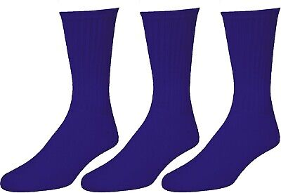3 6 12 Pairs Mens Navy Sports Work Athletic Crew Socks Cotton Size 9-11 10-13