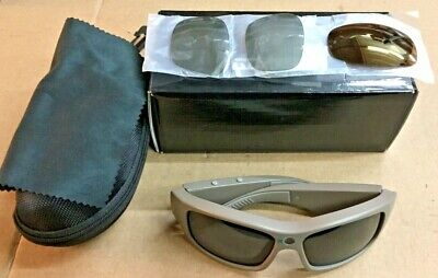 GoVison HD Video Sunglasses w/ Extra Lens & Original Box