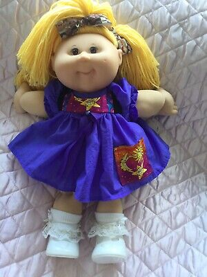 Cabbage Patch Kid Doll Dress Set. Purple. No Doll