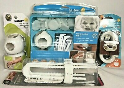 Lot of 4 Baby Child Proofing Basics Home Safety 67 Pieces Door Plugs New in Box