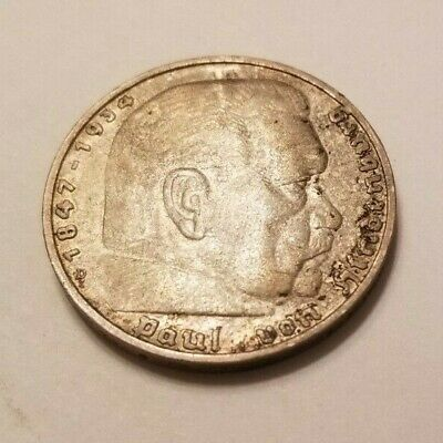 1935 Germany 5 Reichsmark Exonumia Coin