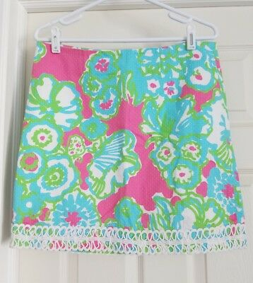 5f0068d659 Lilly Pulitzer Lavender Skirt Womens Size 8 Pink It's A Delicacy Floral GUC