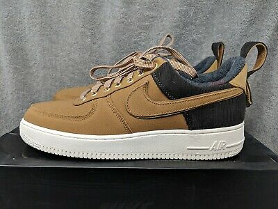 2565212115 NIKE AIR FORCE 1 '07 PRM WIP CARHARTT ALE BROWN SAIL Mens 10.5 (AV4113