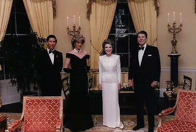 President Ronald Reagan Nancy Princess Diana Charles White House Modern Postcard