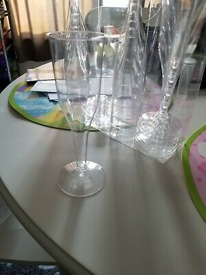 (200 count) - WEDDING PLASTIC WINE CLEAR CHAMPAGNE FLUTES DISPOSABLE GLASSES!