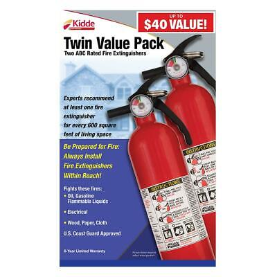 1-A:10-B:C Recreational Emergency Fire Extinguisher (2-Pack) Kitchen Office Shop
