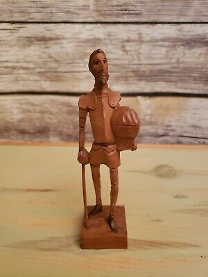 Ouro Artesania Hand Carved Wooden Don Quixote No. 370-M Folk Art Made In Spain