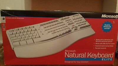 8d3f12185ed Microsoft Natural Keyboard Elite wired for Windows NT/98 PS2 AND USB  COMPATIBLE