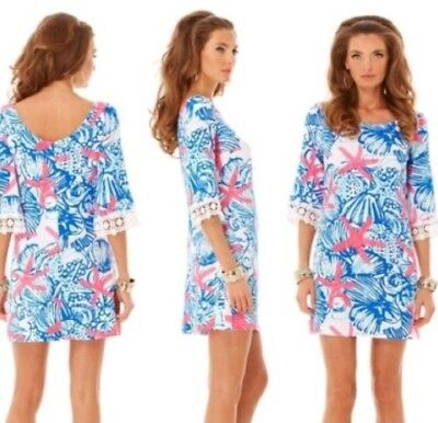 209bd12ce4a8 Lilly Pulitzer Harbour Tunic Dress She She Shells Small EUC SSS Starfish