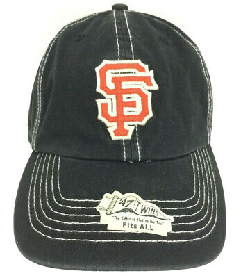 3581d70e SAN FRANCISCO GIANTS Hat Logo Cap SF Baseball MLB Adjustable Strapback Black