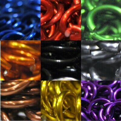 """5/16"""" ID 14g AWG (.062"""") 1,000 Saw-Cut Chainmail Jump Rings (Multiple Colors)"""