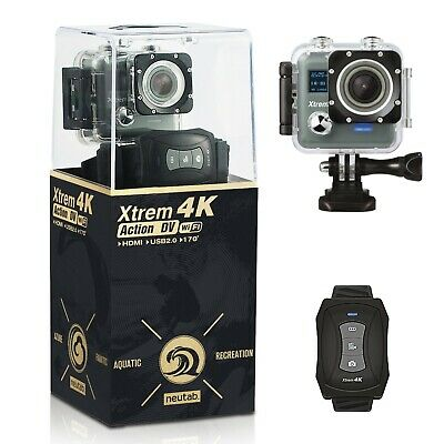 NeuTab 4K Ultra HD DV Sports Action Camera 2''LCD WiFi 16MP Waterproof Camcorder