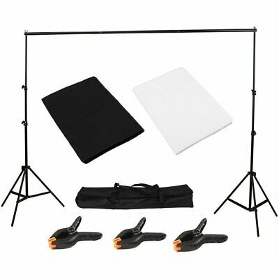 10Ft Pro Photography Photo Backdrop Support Stand Set Background Crossbar Kit BR