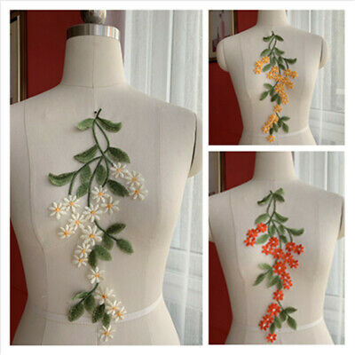 1PC Craft Embroidery Lace Flower Daisy Sew On Patch Jeans Dress Applique