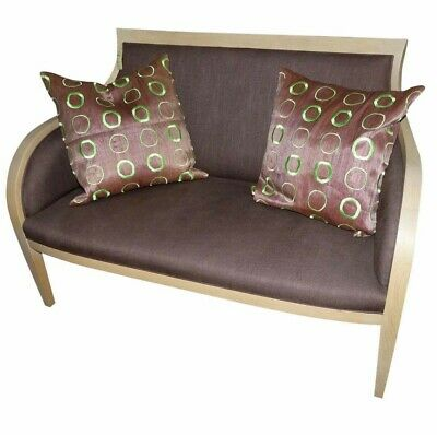 1067-801:  Exposed Wood Upholstered Settee or Love Seat
