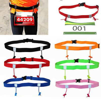 Women Unisex Cloth Bib Holder Running Waist Pack Race Number Belt Sports Tool