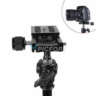 New Camera QR Quick Release Plate And Clamp For Ball Head Monopod Tripod Hot