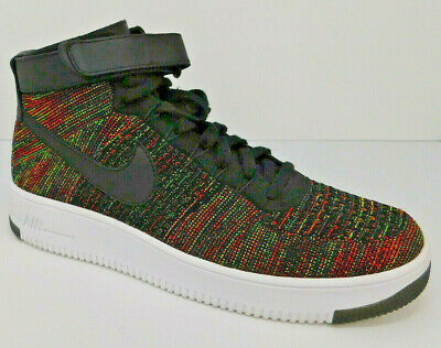 390c1793a0 NEW Nike AF1 Air Force 1 Ultra Flyknit Mid Mens 11 Black Red 817420-002