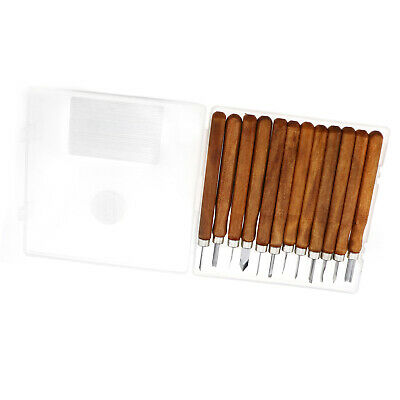 12x Wood Carving Hand Chisel Tool Kit Set Wood working Professional Gouges New