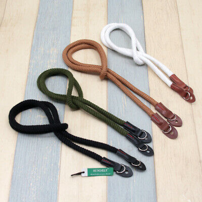 Retro Handmade Leather Camera Neck Shoulder Strap with Pull Ring
