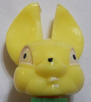 Vintage PEZ Dispenser Bunny Rabbit Jugoslavia Green Base Thin Feet