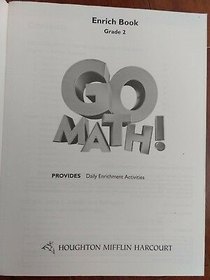 GO MATH!, ENRICH Book, Grade K (English) Paperback Book Free