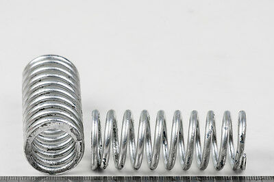Machinery Tension Springs 64mm L x Dia.25mm Wire dia 3.2mm Silver - New