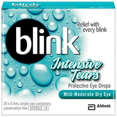 Blink Intensive Tears 0.4ml x 20 Vials For Mid-Moderate Dry Eyes