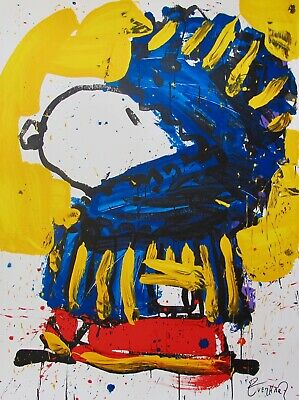TOM EVERHART MARCH VOGUE Hand Signed Limited Edition Lithograph Art SNOOPY