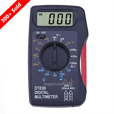 Portable Mini LCD Digital Multimeter Pocket Ammeter Voltmeter Ohm Meter Volt
