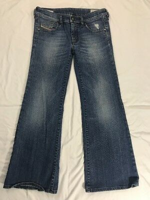 d26bdac9 EUC WOMENS SIZE 24in. DIESEL YBO 008RI Wide Leg Jeans, Made in Italy ...
