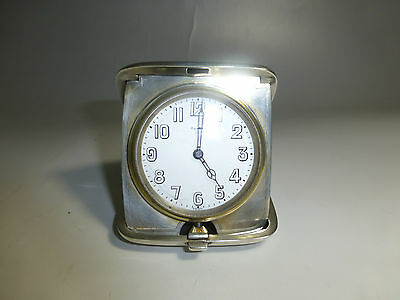 Antique Sterling Silver 8 Day Travel Watch/Clock Working Great (watch The Video)