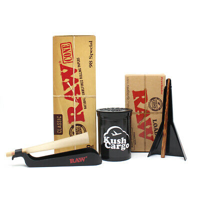 RAW 98 Special Pre Rolled Cones with RAW Cone Loader and RAW Catcher