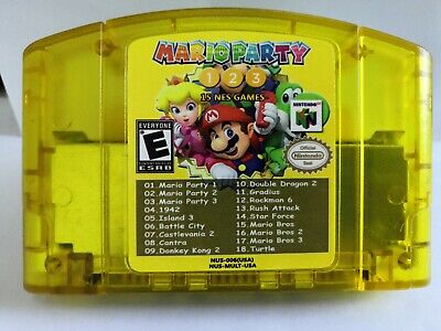 N64 18 in 1 game Card Mario Party 1 2 3 Aggregation +15 NEWS US Edition