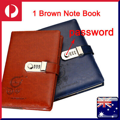 Large Diaries Journals Notebooks Traveling Book A5 with Code Lock Secret Diary