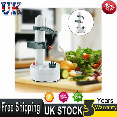 Automatic Electric Fruit Veg Vegetable Apple Potato Peeler Slicer Cutter Kitchen