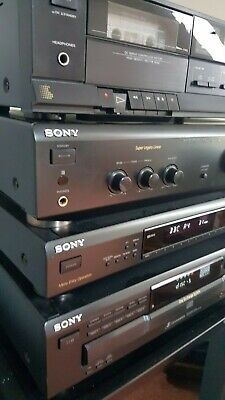 Sony Hi-Fi Stereo Separates System Amp, Tuner, CD Player & Cassette + Speakers