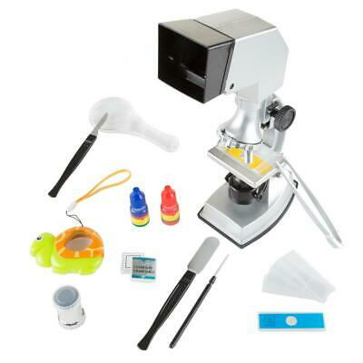 Microscope For Kids 18-Piece Hours Of Fun And Learning 4 Viewing Magnifications