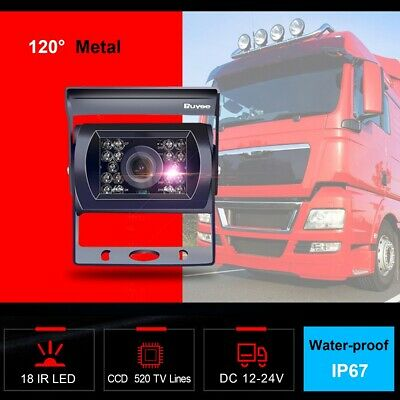 12-24V Car Bus Truck Rear View Camera 18 LED IR REVERSING CAMERA Waterproof IP67