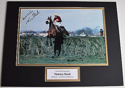 Tommy Stack SIGNED autograph 16x12 photo display Red Rum Grand National Jockey