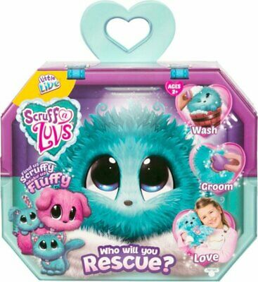 New Scruff a Luvs Little Live Pets Blue Mystery Rescue Pet Grooming Plush Animal