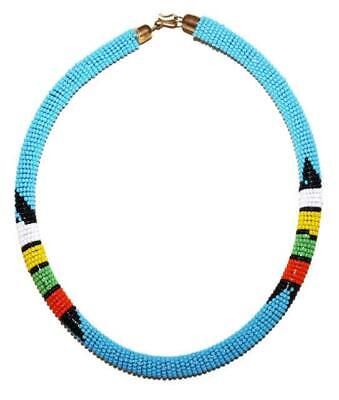 African Maasai Masai Beaded Boho Necklace - Kenya Jewelry #01