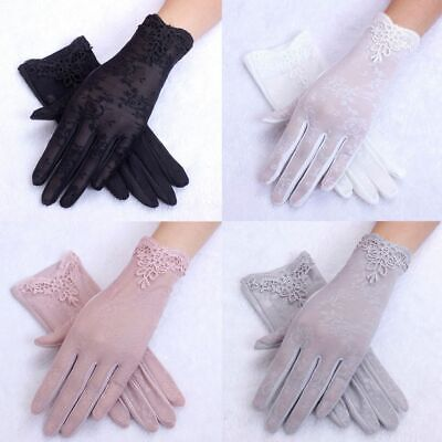 Fashion Short Summer Gloves For Women UV-proof Gloves Laces Driving Gloves Sun