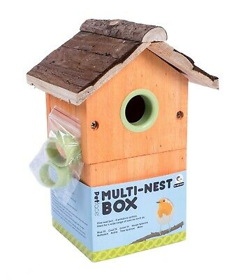 Multi Bird Nest Box by PetFace Adaptable for Variety of Birds Spring Wooden