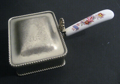 Vintage Silver-Plated SILENT BUTLER by PH Vogel (P.H.V & Co) England (crumb/ash)