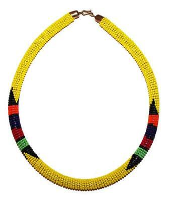 African Maasai Masai Beaded Boho Necklace - Kenya Jewelry #05