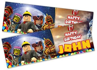x2 Personalised Birthday Banner Roblox Children Kids Party Decoration Poster 21