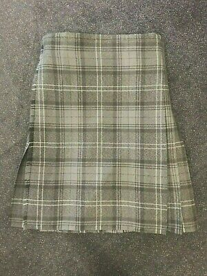 "EX-HIRE HIGHLAND GRANITE TARTAN EXCELLENT CONDITION Kilt Size 26"" Waist 23.5"""